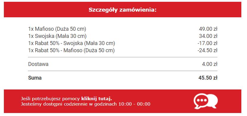 -50% zniżki na wszystkie pizze w CALDO w Krakowie