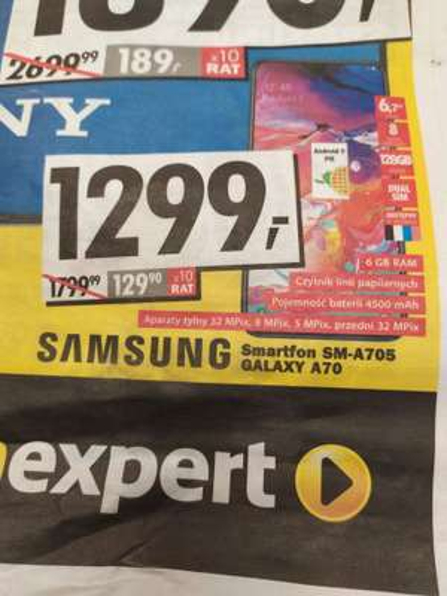 Samsung A70, 6/128