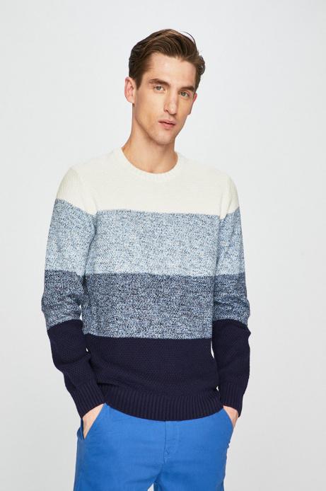 Sweter męski w paski niebieski MEDICINE (2 kolory)