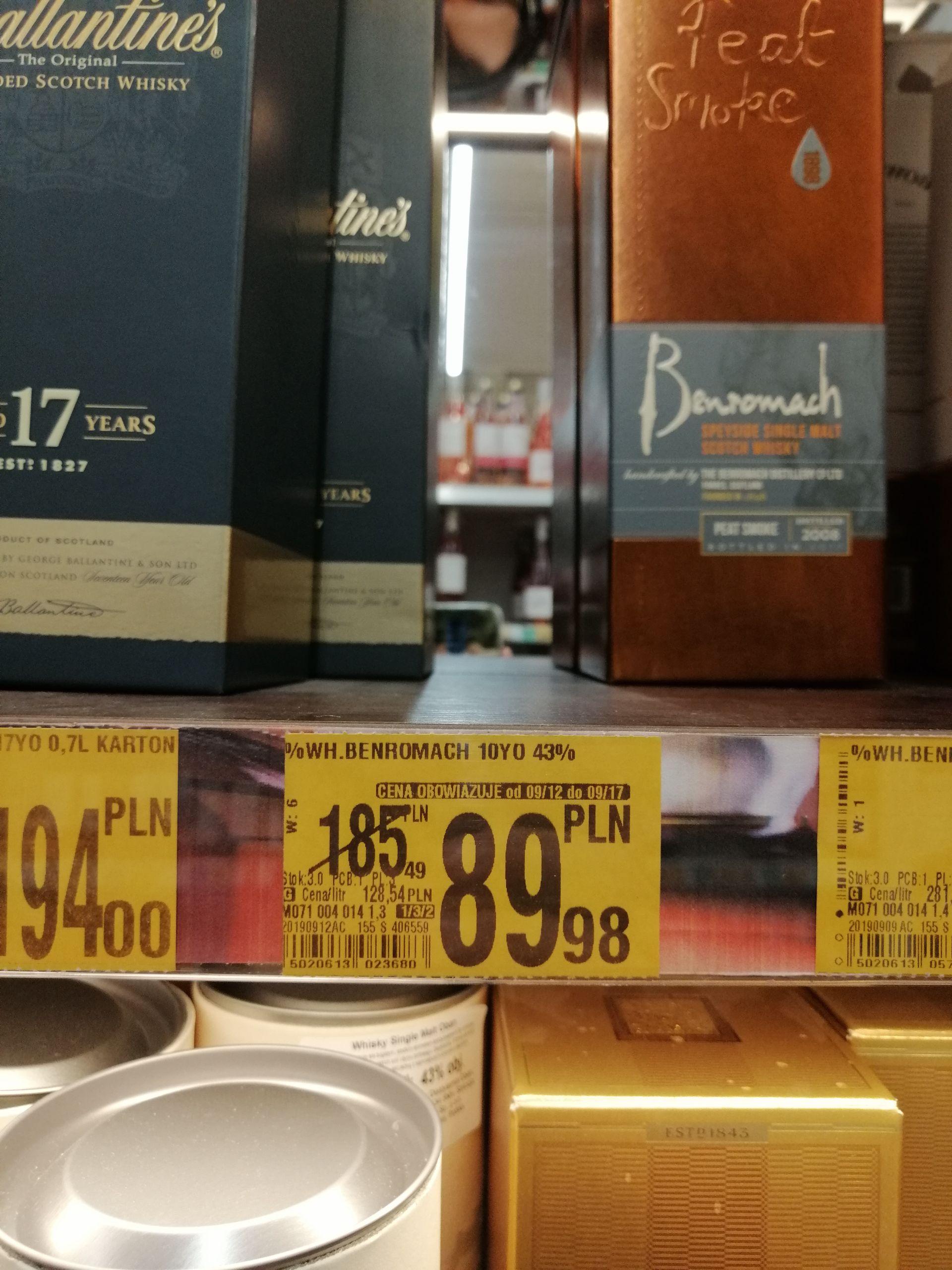 Whisky  Benromach 10YO Single Malt - Auchan Bonarka Kraków
