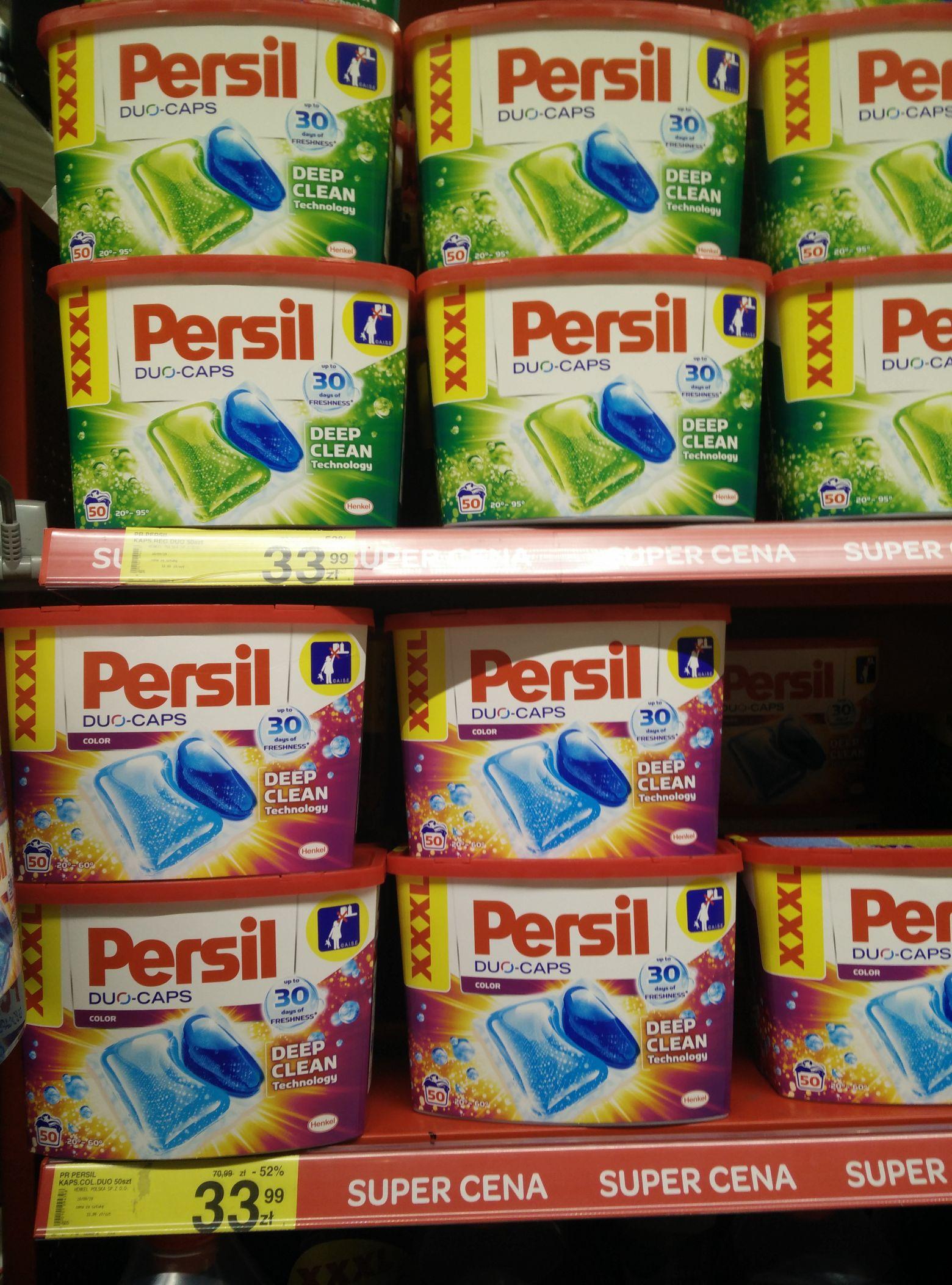 Kapsułki do prania Persil DUO-CAPS 50 sztuk - 68gr/sztuka, możliwe nawet 61gr | Carrefour