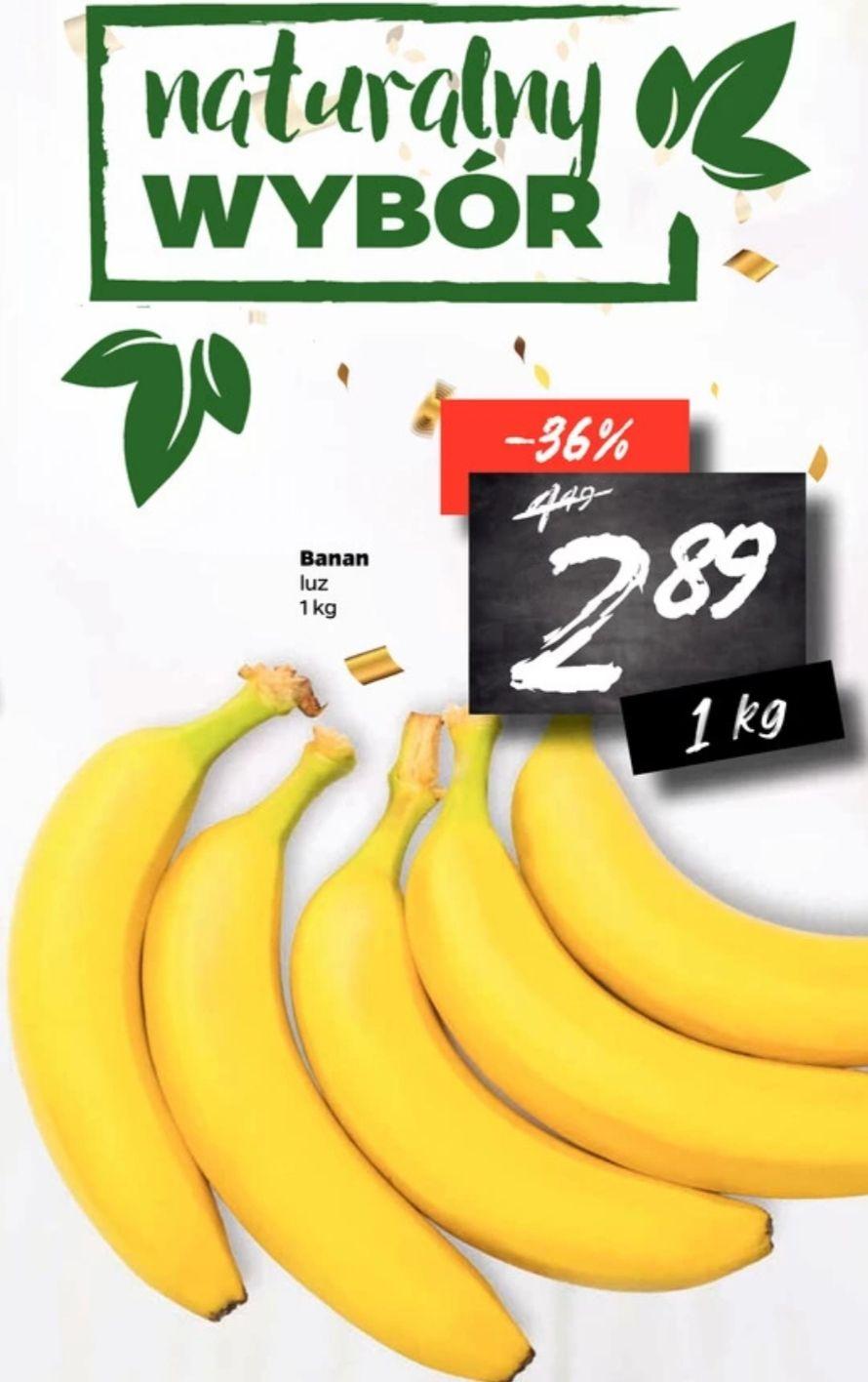 Banany 1kg/2.89 zł Netto od 16 do 21