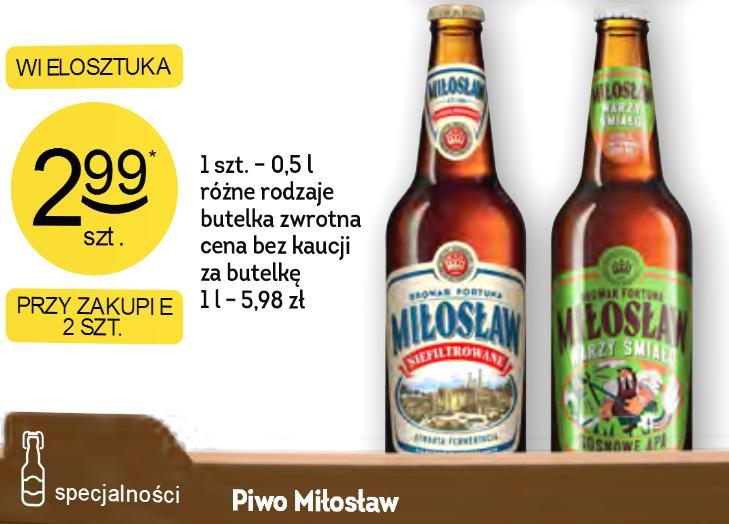 2x piwo Miłosław za 5,98 zł - Żabka