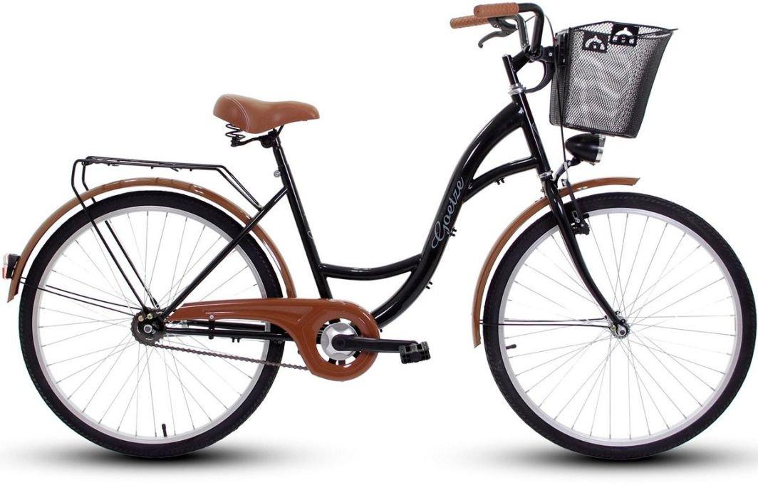 Rower miejski Goetze ECO Koło 26 + Kosz Metal czarny