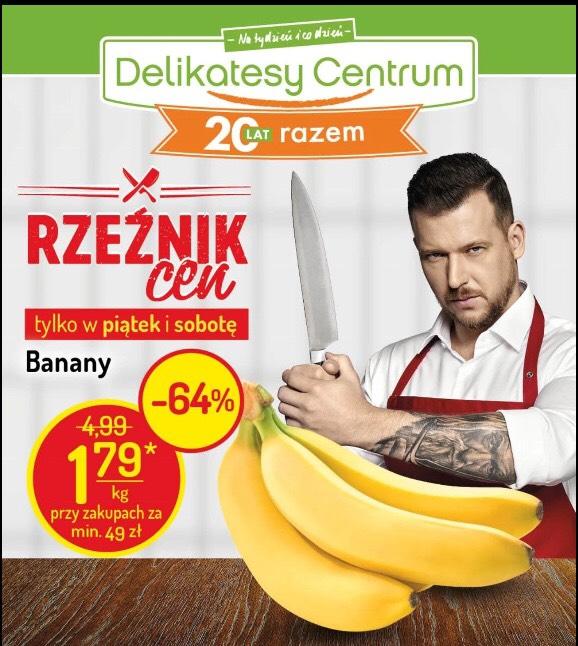 Banany 1kg/1.79 zł przy zakupach od 49zł