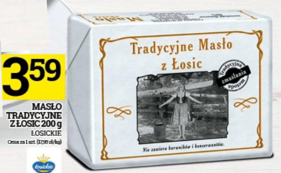 Masło tradycyjne z Łosic 200g/3.59 Topaz od 12 do 18