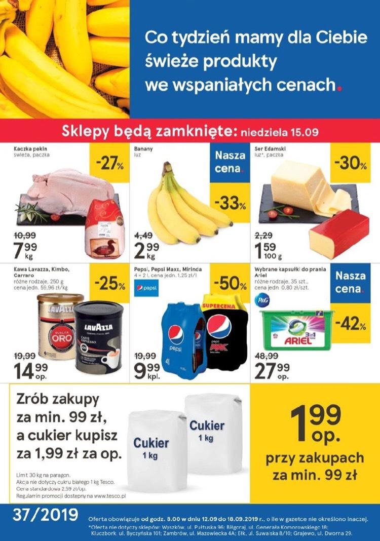Cukier za 1,99 PLN - Tesco