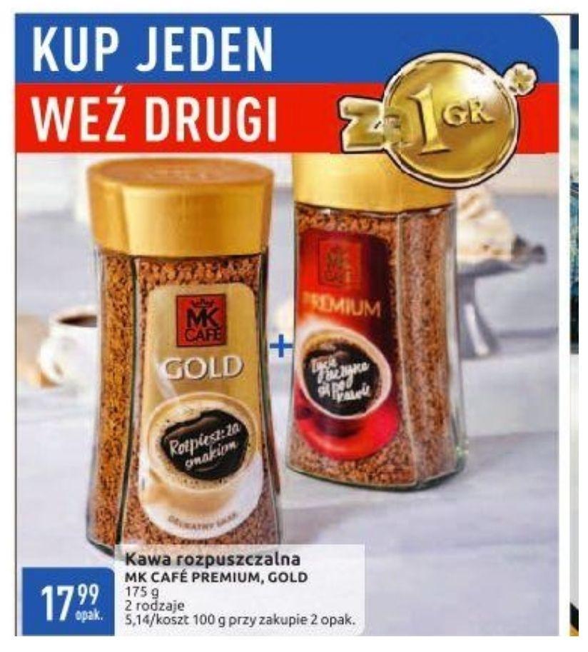Kup jeden weź drugi za grosz. Kawa MK Cafe Premium i Gold. Cena za dwie sztuki. Carrefour