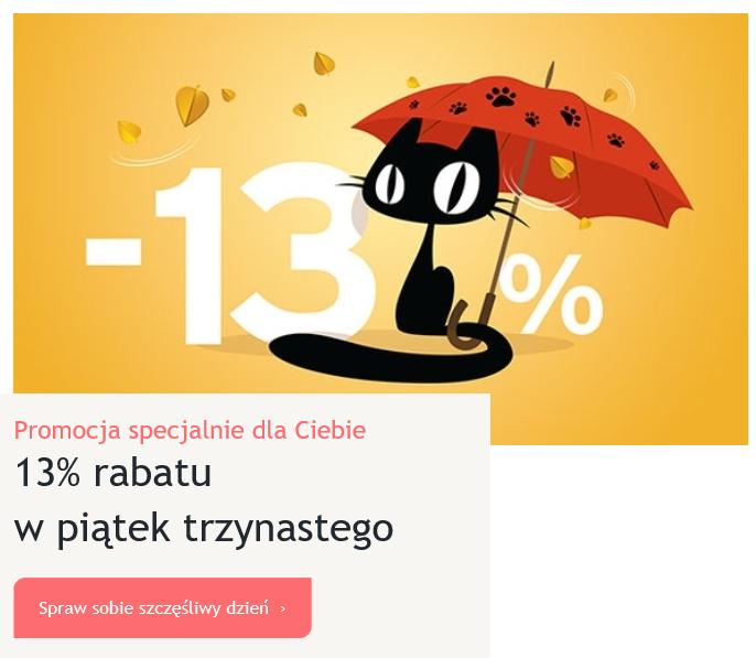 Szczęśliwy piątek 13 w Tchibo - kod -13%