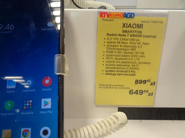 Xiaomi Redmi Note 7 4/64GB (czarny) w Rtv Euro Agd CH Wola Park Warszawa