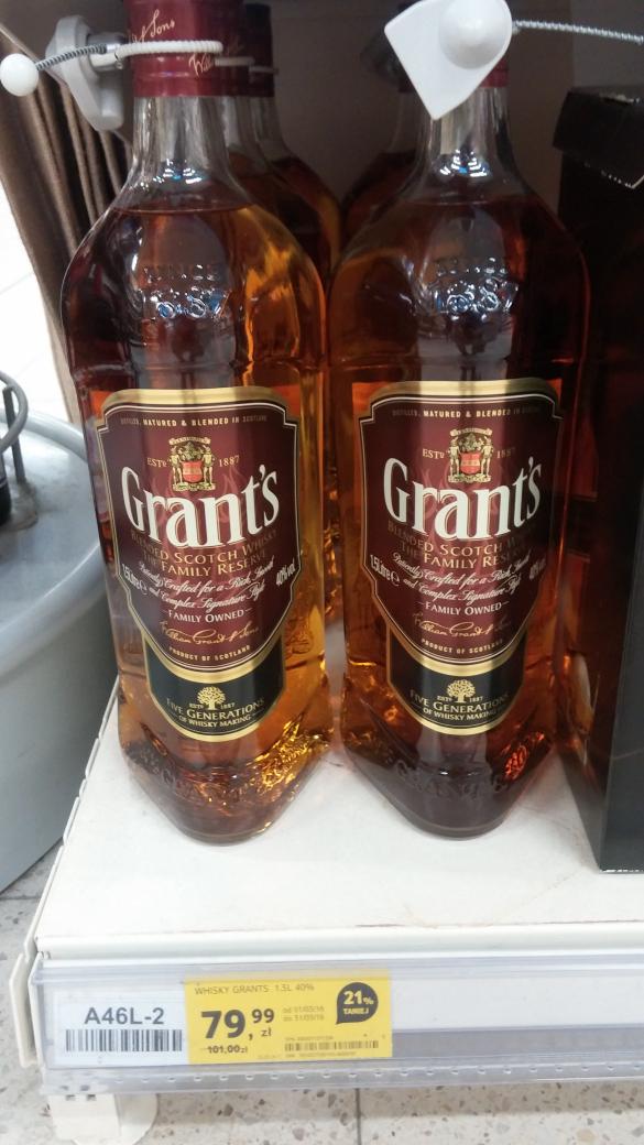Grant's 1,5L za 79.99 znowu w Tesco