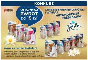 GLADE ELECTRIC: zwrot do 15zł