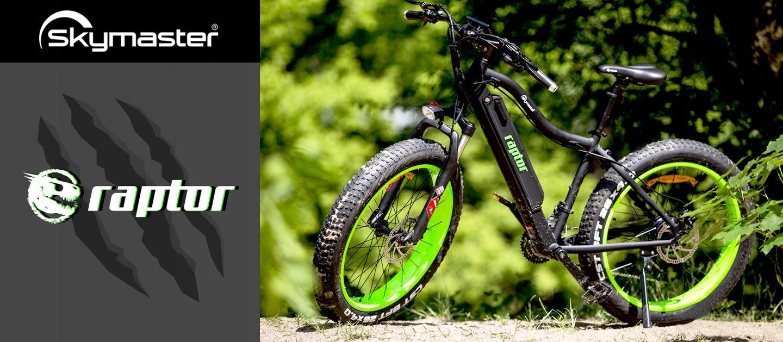 Rower elektryczny Skymaster Raptor (fatbike), raty 20x0%