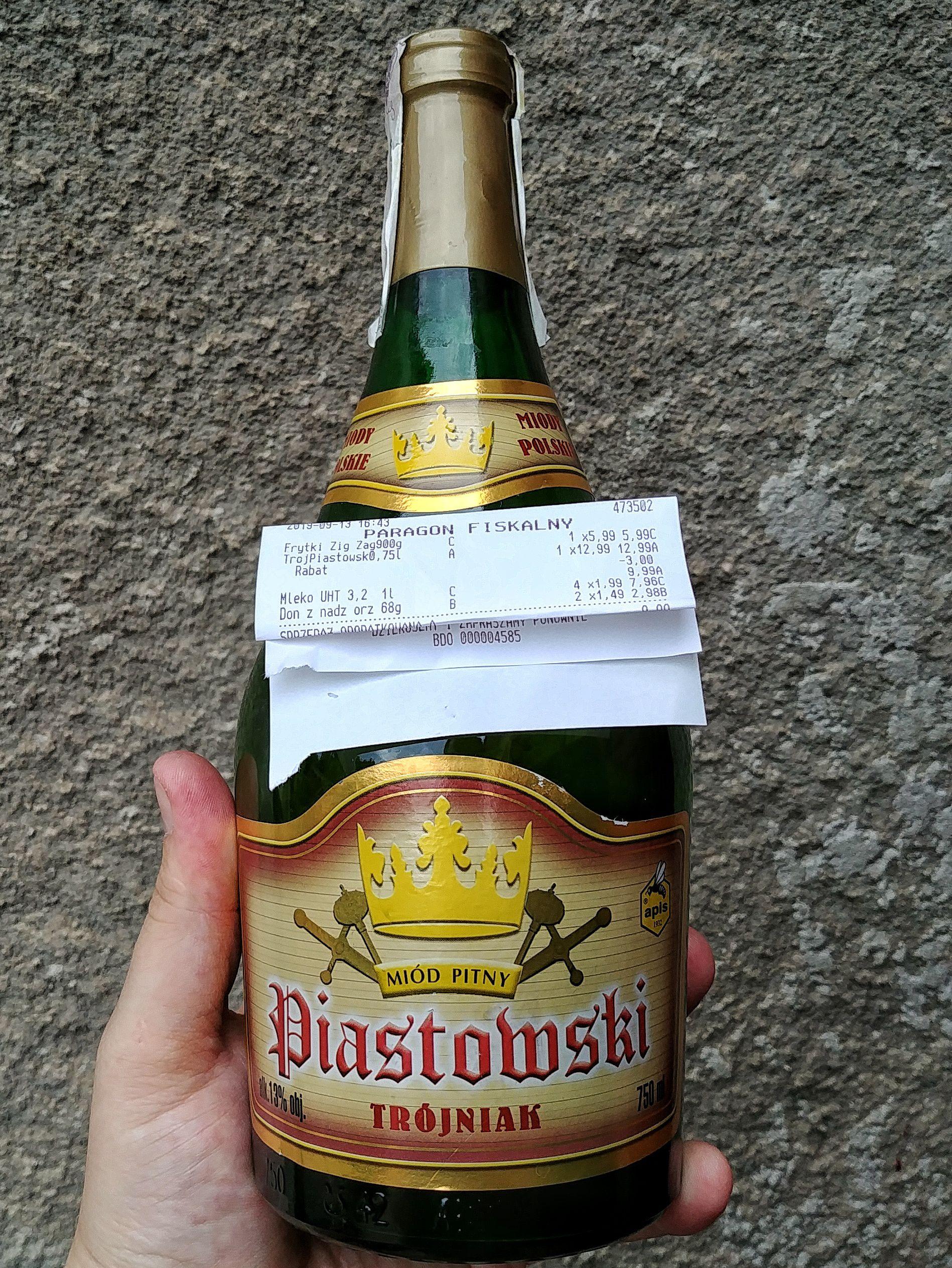 Miód pitny Trójniak Piastowski 0.75L 13% (Biedronka)