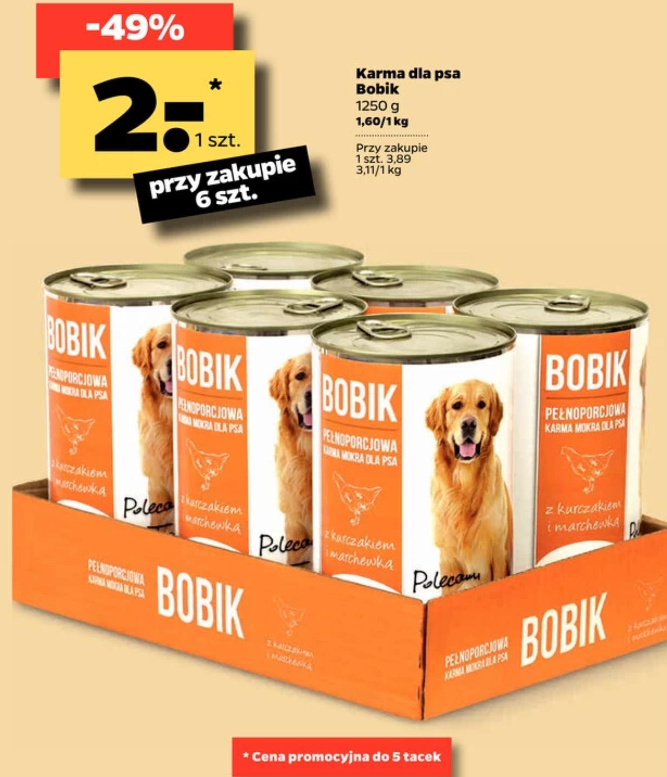 Karma dla psa Bobik 1250g - Netto