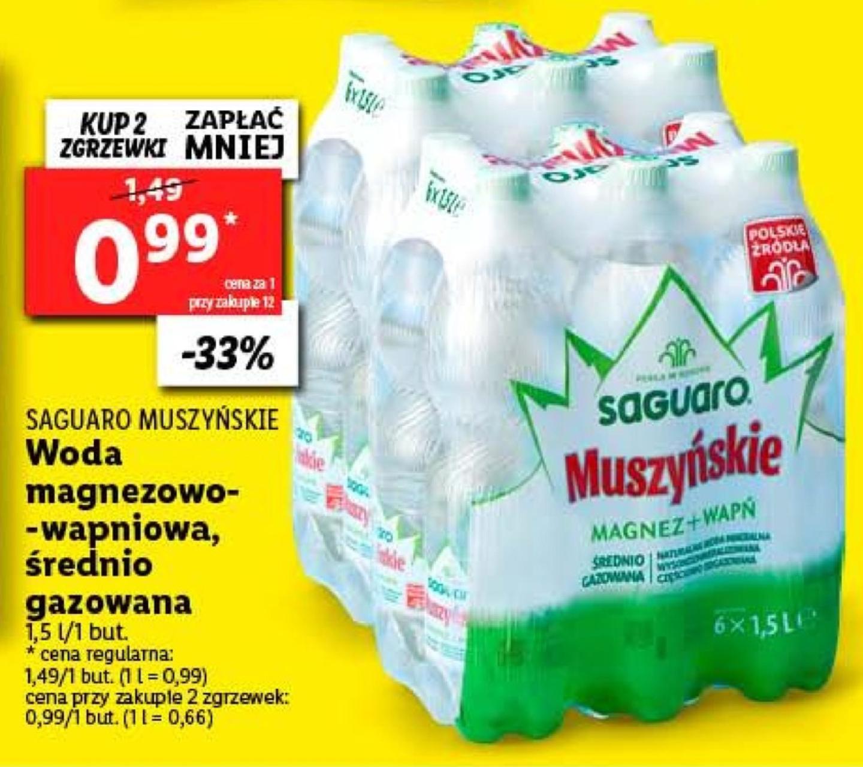 Woda mineralna Saguaro Muszyńskie w Lidl