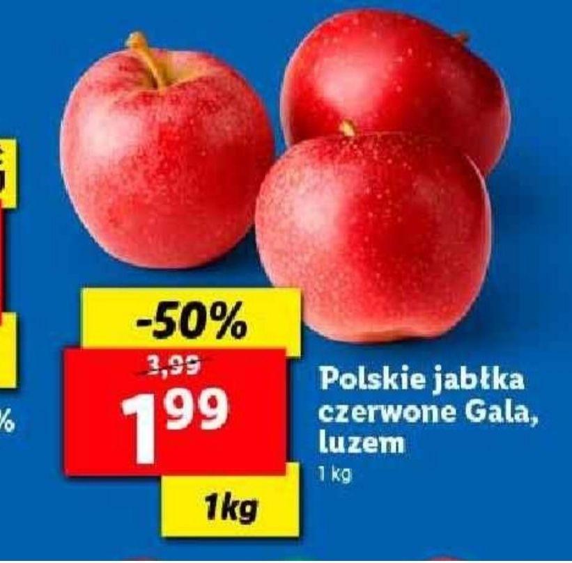 Polskie jabłka czerwone Gala. Lidl
