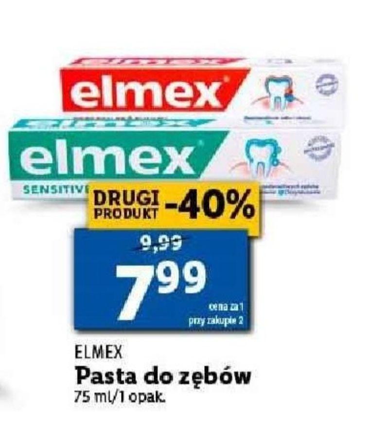 Pasta do zębów Elmex. Cena przy zakupie 2 sztuk. Lidl
