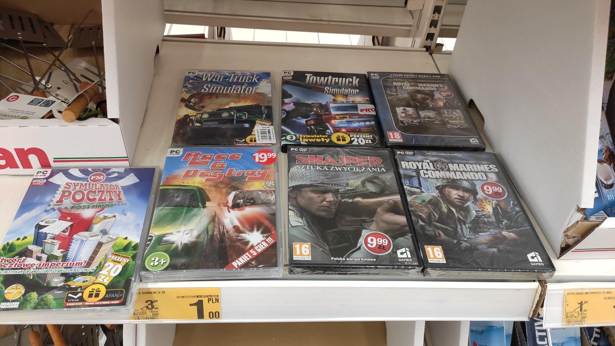 *Crap*Gry PC za 1zl @Auchan