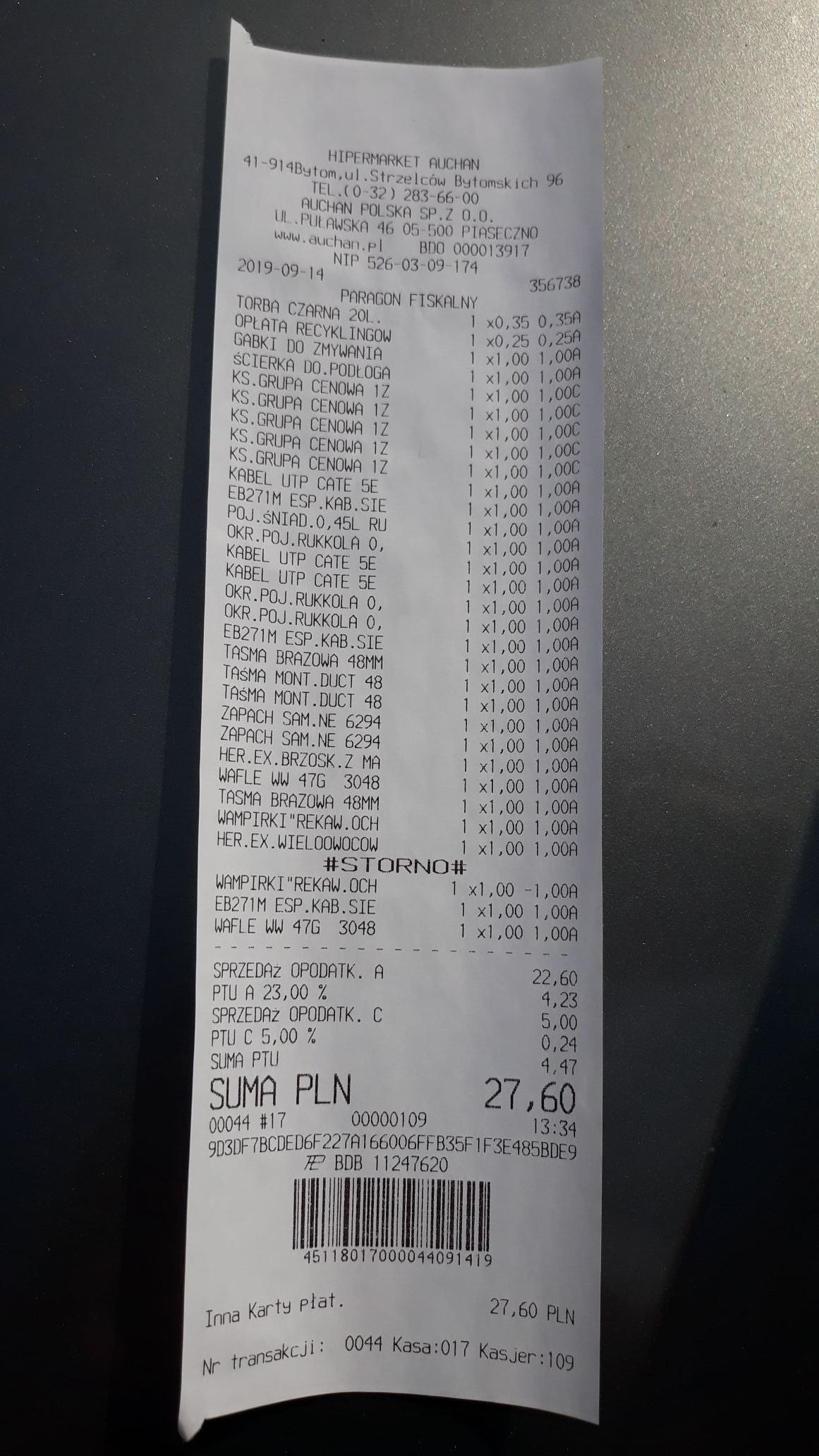 Auchan Bytom - wyprzedaż po 1zł