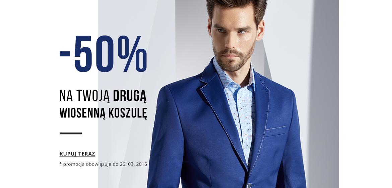 -50% na drugą koszulę @ Pako Lorente