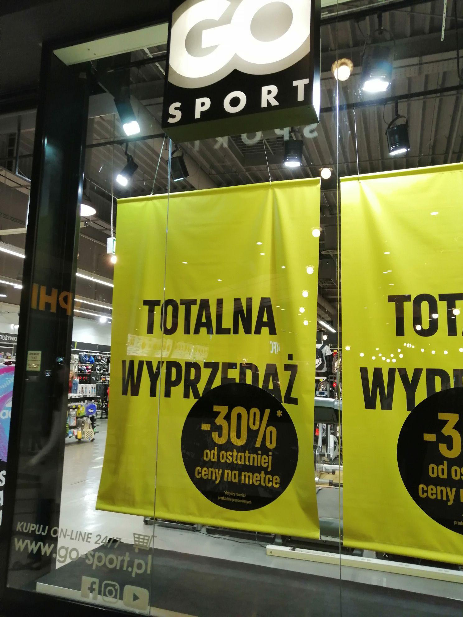 Go Sport M1 Marki -30% na wszystko w sklepie.