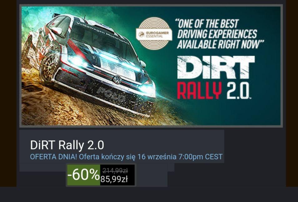 Dirt rally 2.0 na steam od 85,99