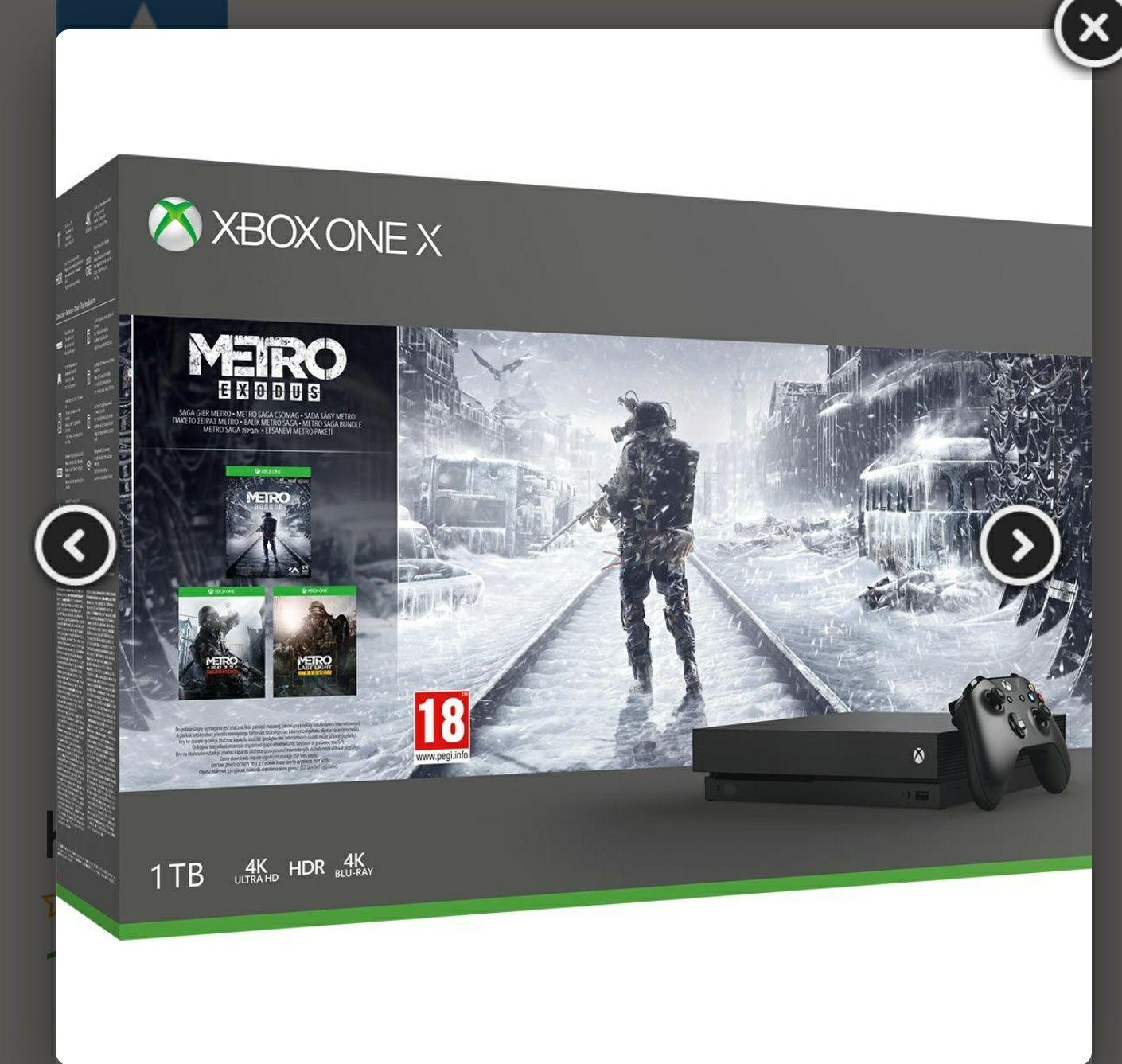 Xbox one x + metro exodus