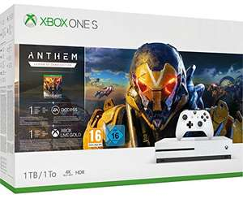 Xbox One S 1TB Anthem + 1 miesiąc EA Access + 1 miesiąc Xbox Live Gold + 1 miesiąc Game Pass
