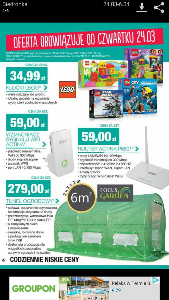 Klocki Lego za 34,99 zl