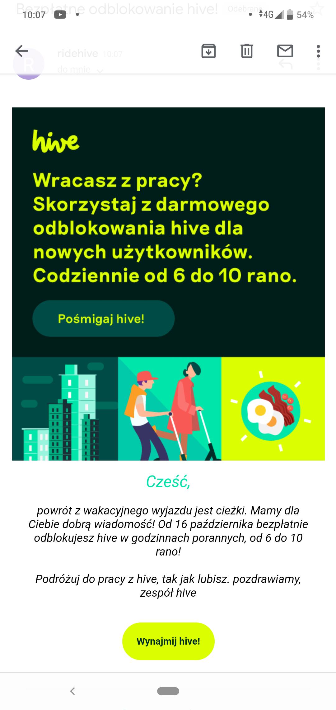 Hive darmowe odblokowanie od 16 września od 6 do 10