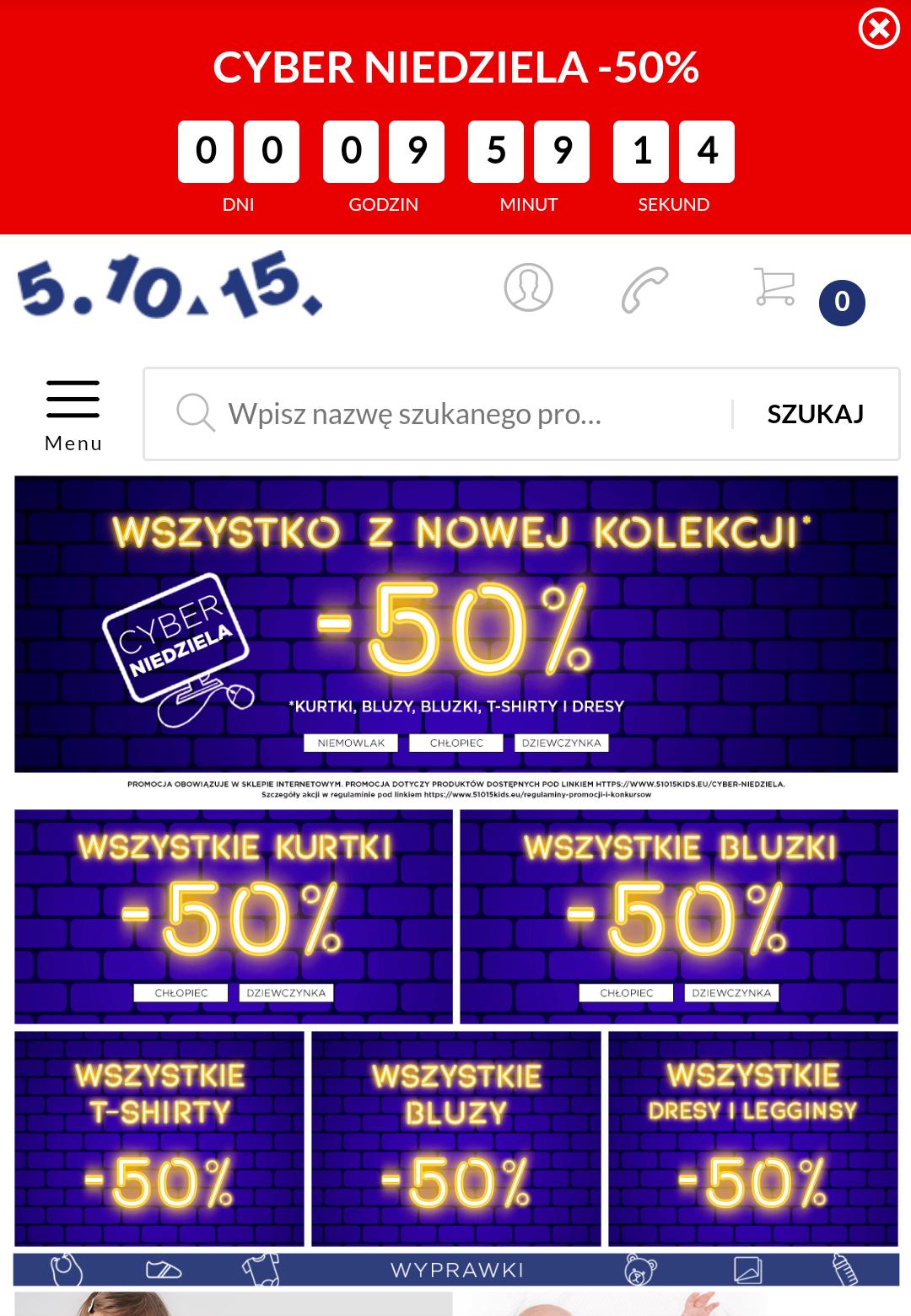 -50% cyber niedziela w 51015
