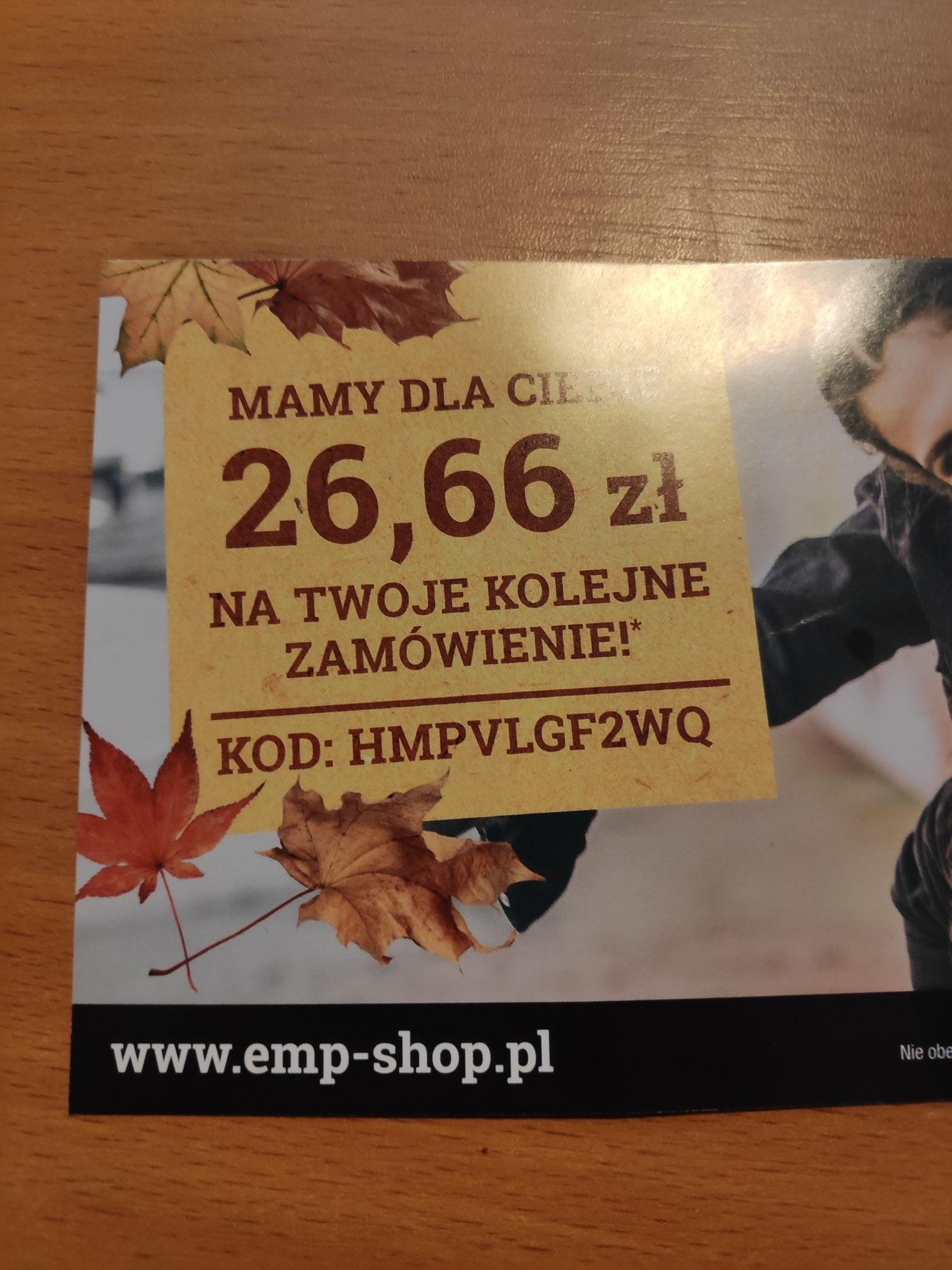 Kupon zniżkowy emp-shop.pl -26,66zł
