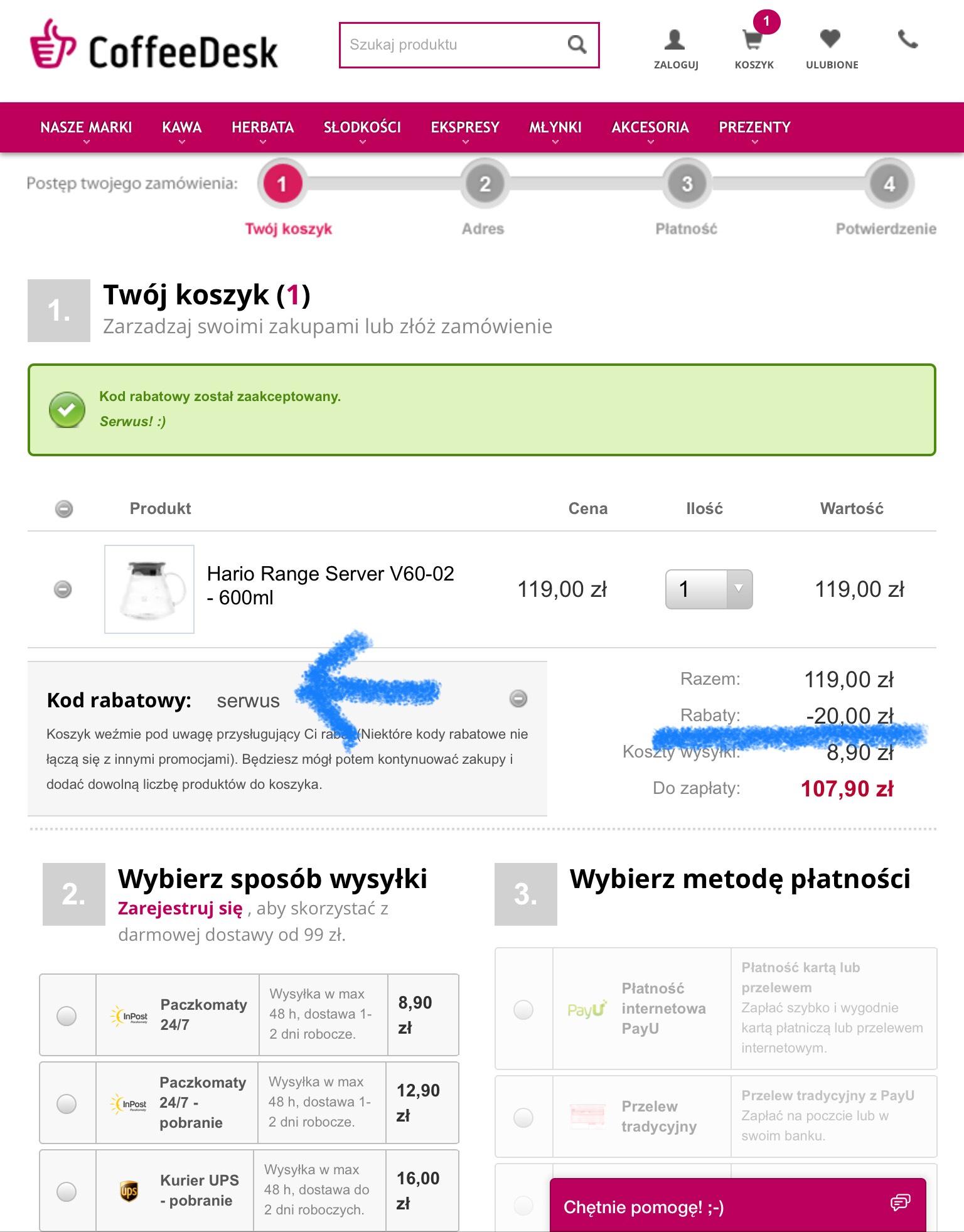Coffeedesk.pl -20 zł z kodem