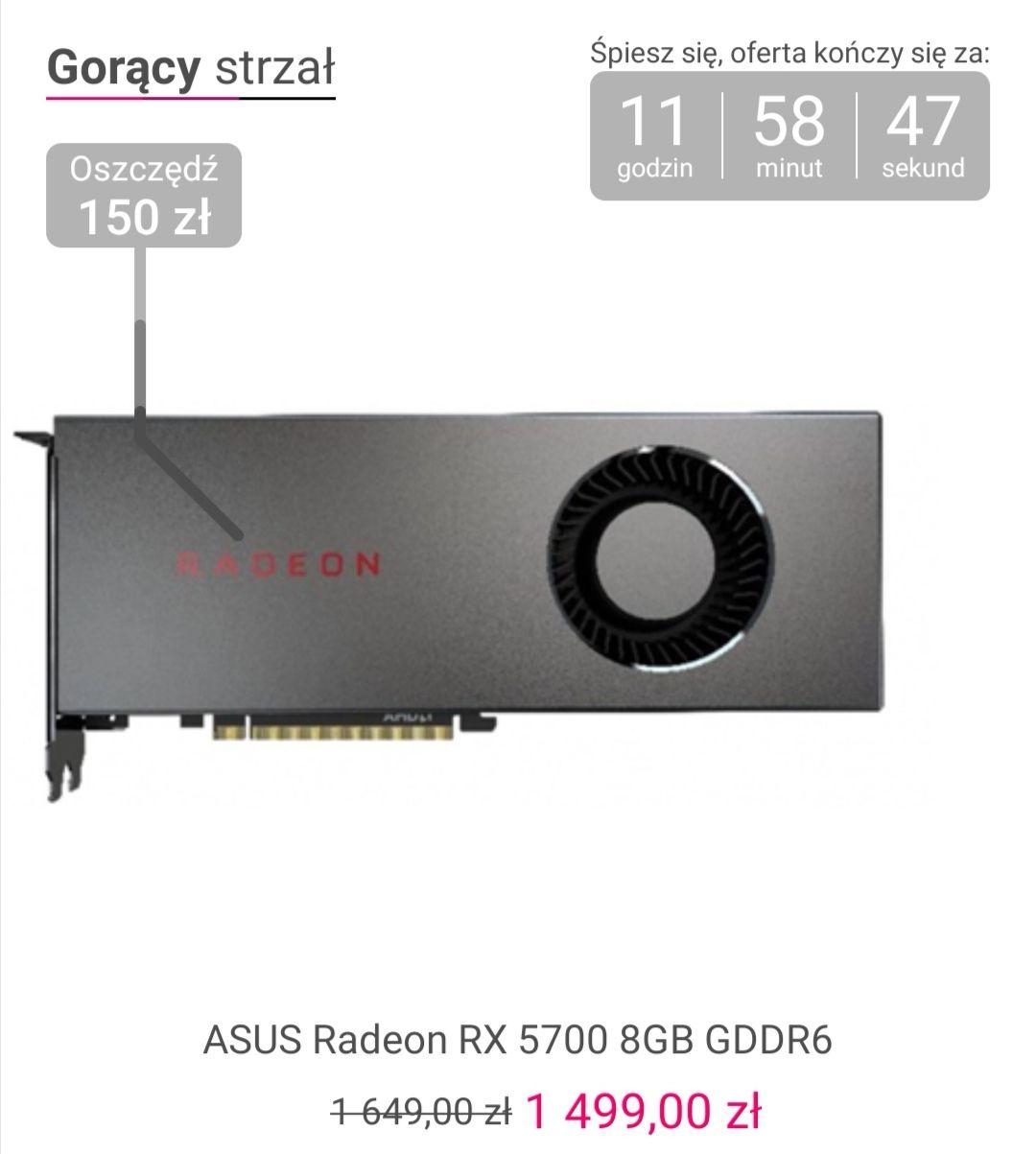 Karta graficzna ASUS Radeon RX 5700