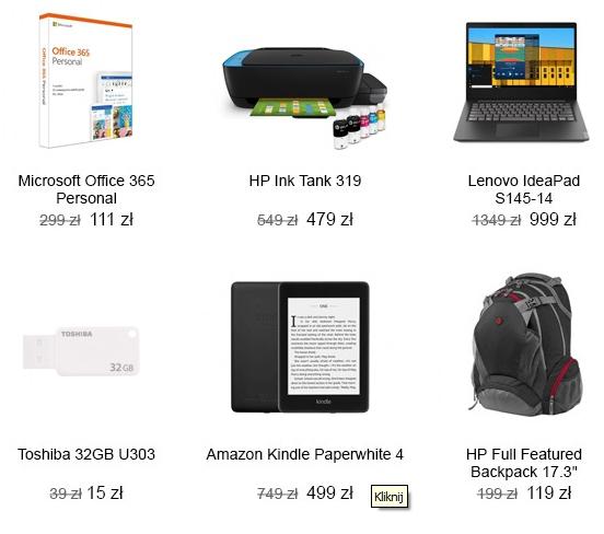 X-kom SSD, MONITORY, LAPTOPY np:  HP 17 Ryzen 5-2500U/8GB/256+1TB/W10 IPS  za 2249zł z 2899