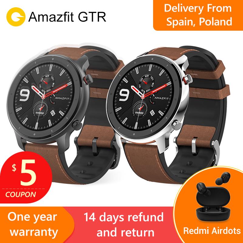 Smartwatch Xiaomi Amazfit GTR 47mm (2019, global) z GPS i ekranem AMOLED (wysyłka z PL/ES) @ AliExpress