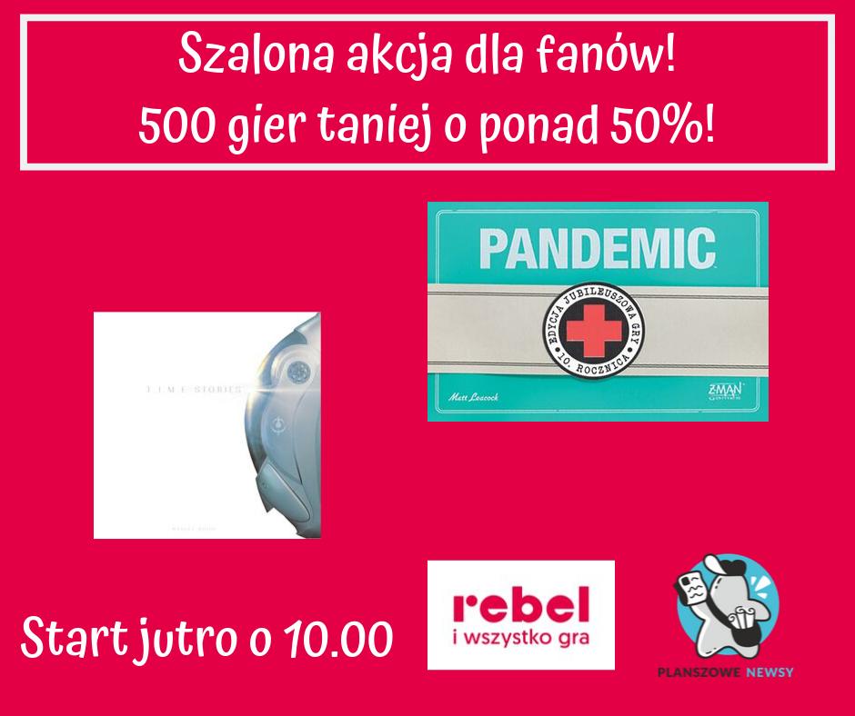 Planszówki za 50% ceny - Time Stories i Pandemic + Inne