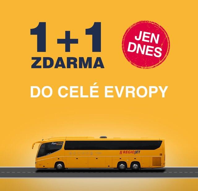 2 bilety w cenie 1 tylko dziś (np. Kraków-Ostrawa za 26zł)