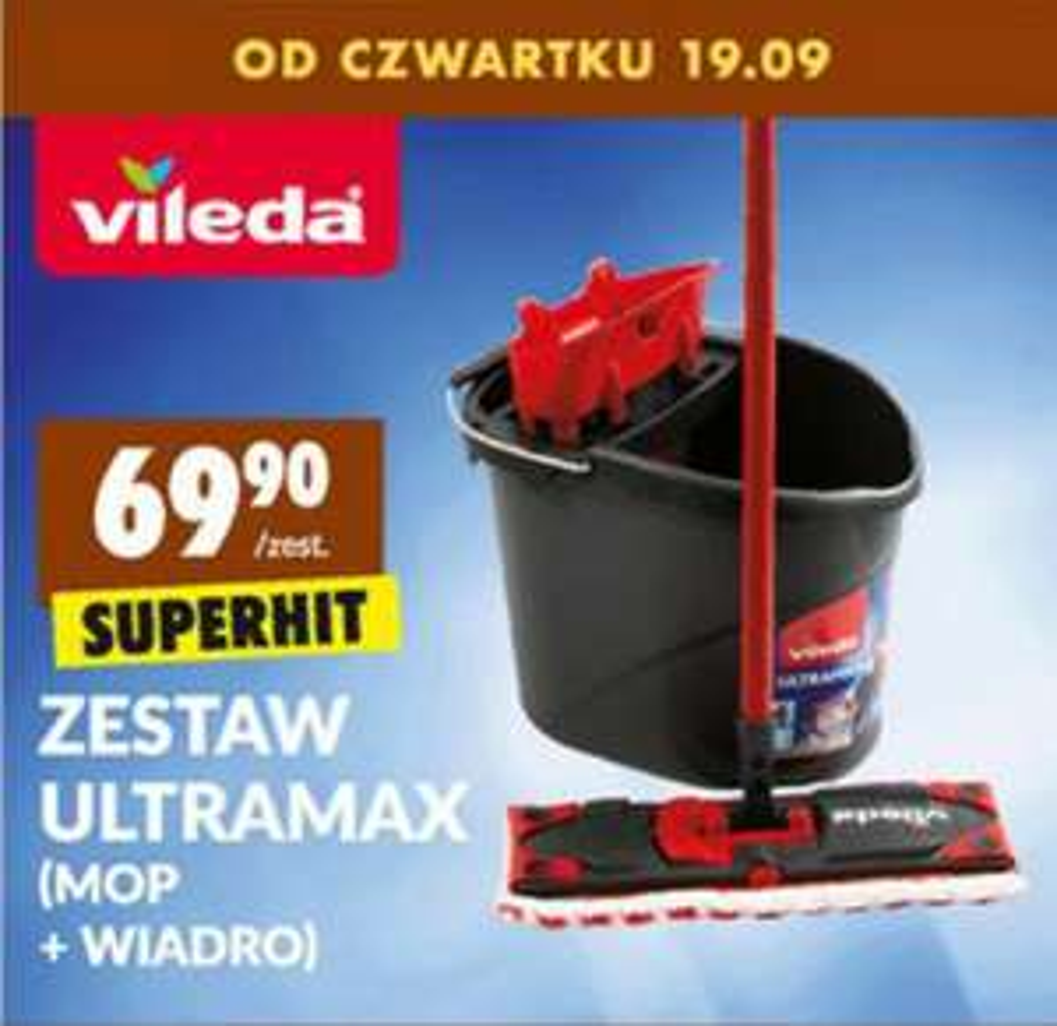 Mop Vileda Ultramax - zestaw w Biedronce