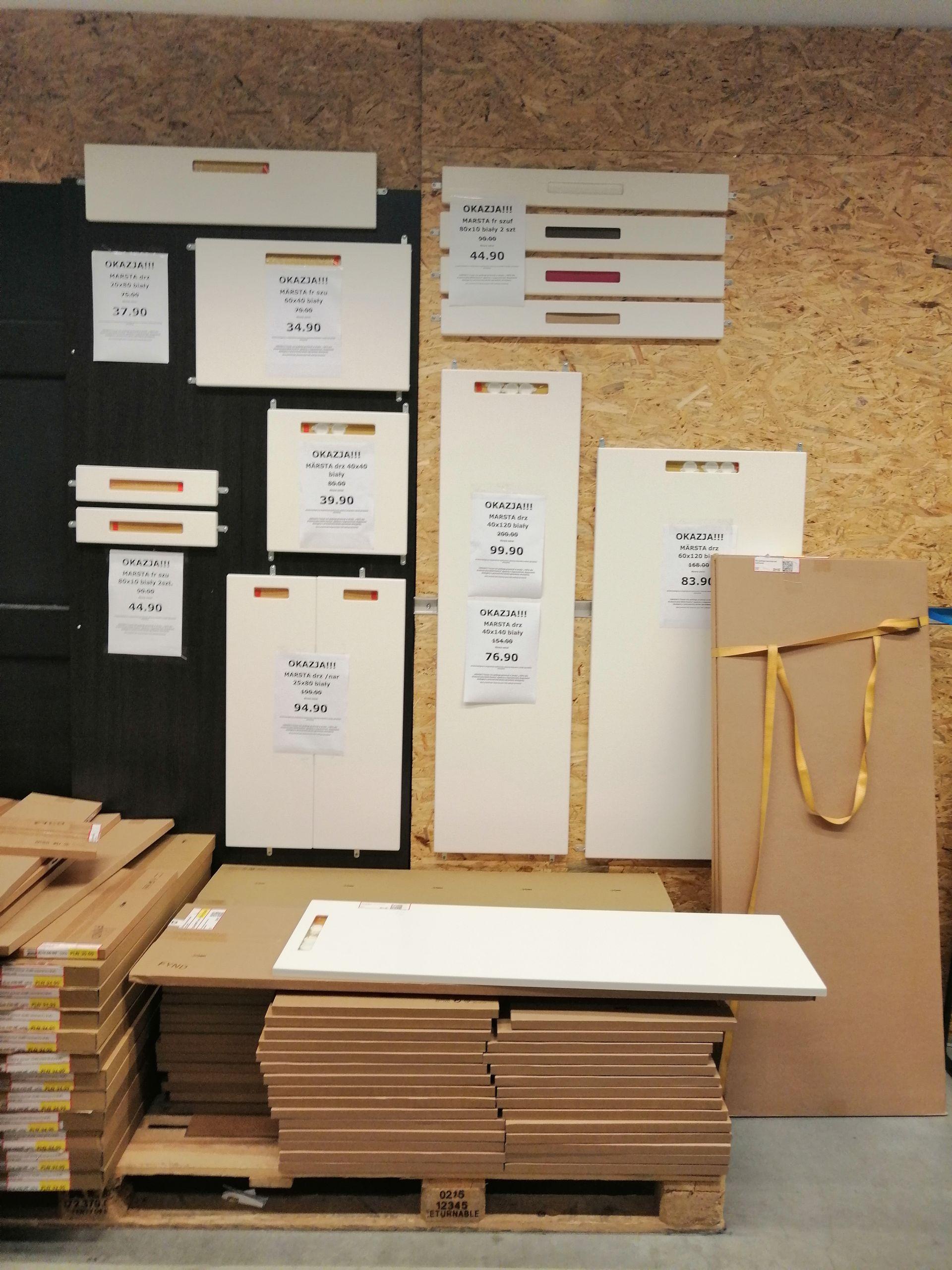 IKEA we Wrocławiu. MARSTA fronty kuchenne różne rozmiary