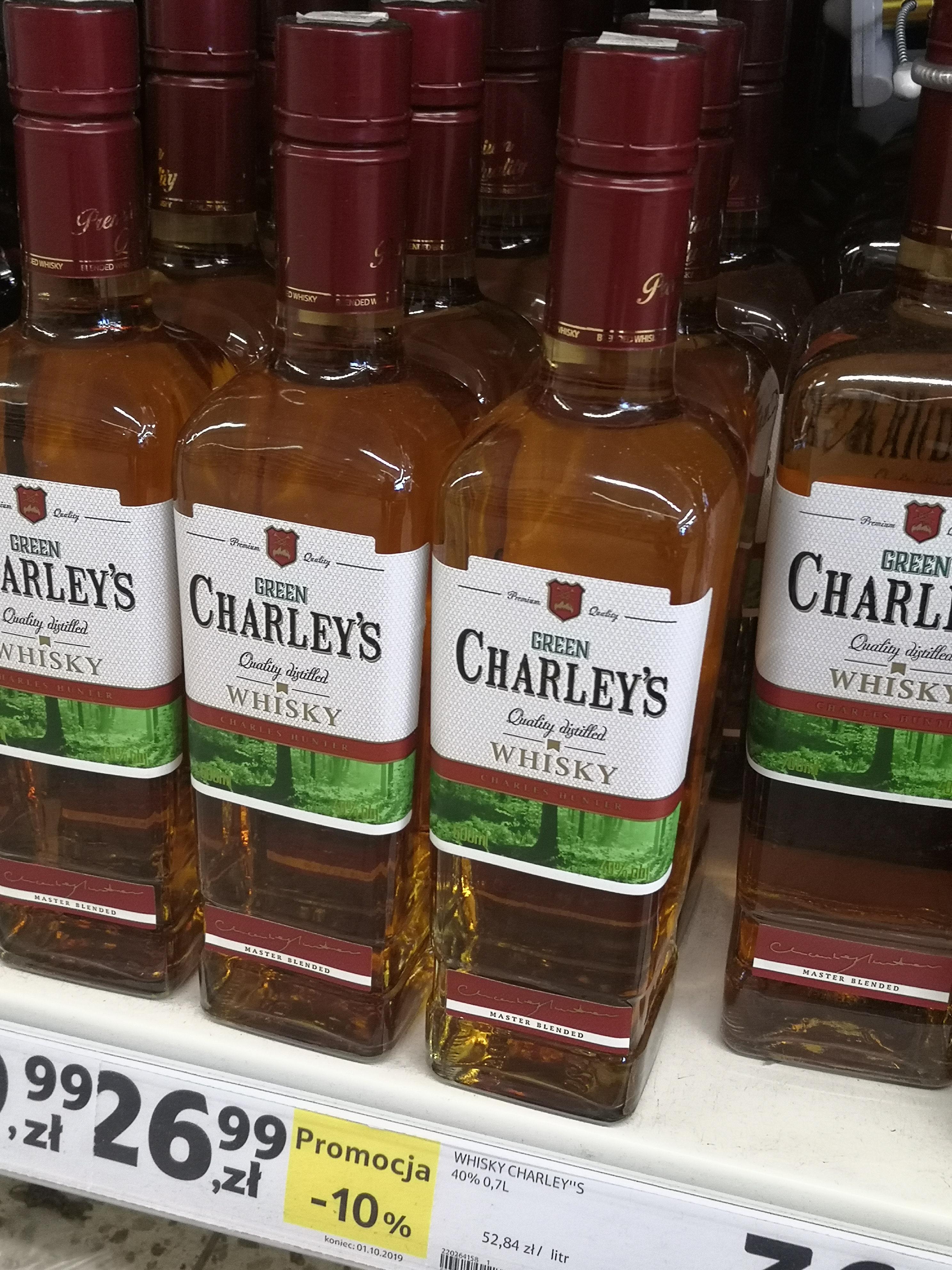 Green CHARLEY'S 0.5 whisky i JIM BEAM 0.7 BOURBON  w Tesco Szczecin Mickiewicza