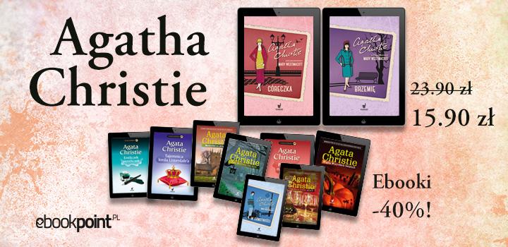 Książki Agaty Christie 40% taniej @ ebookpoint.pl