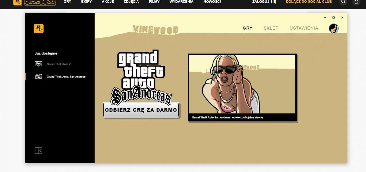 GTA San Andreas za darmo!