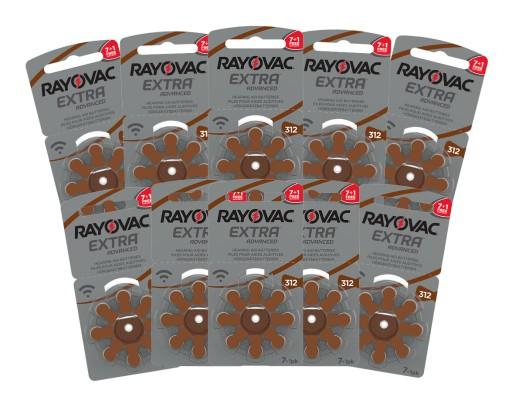 Baterie do aparatów słuchowych  RAYOVAC EXTRA ADVANCED 312