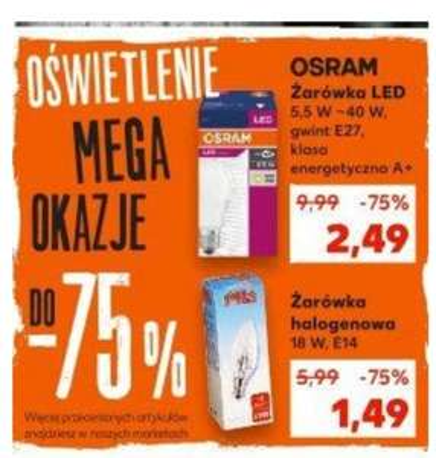 OSRAM żarówka LED. Gwint E27. Kaufland