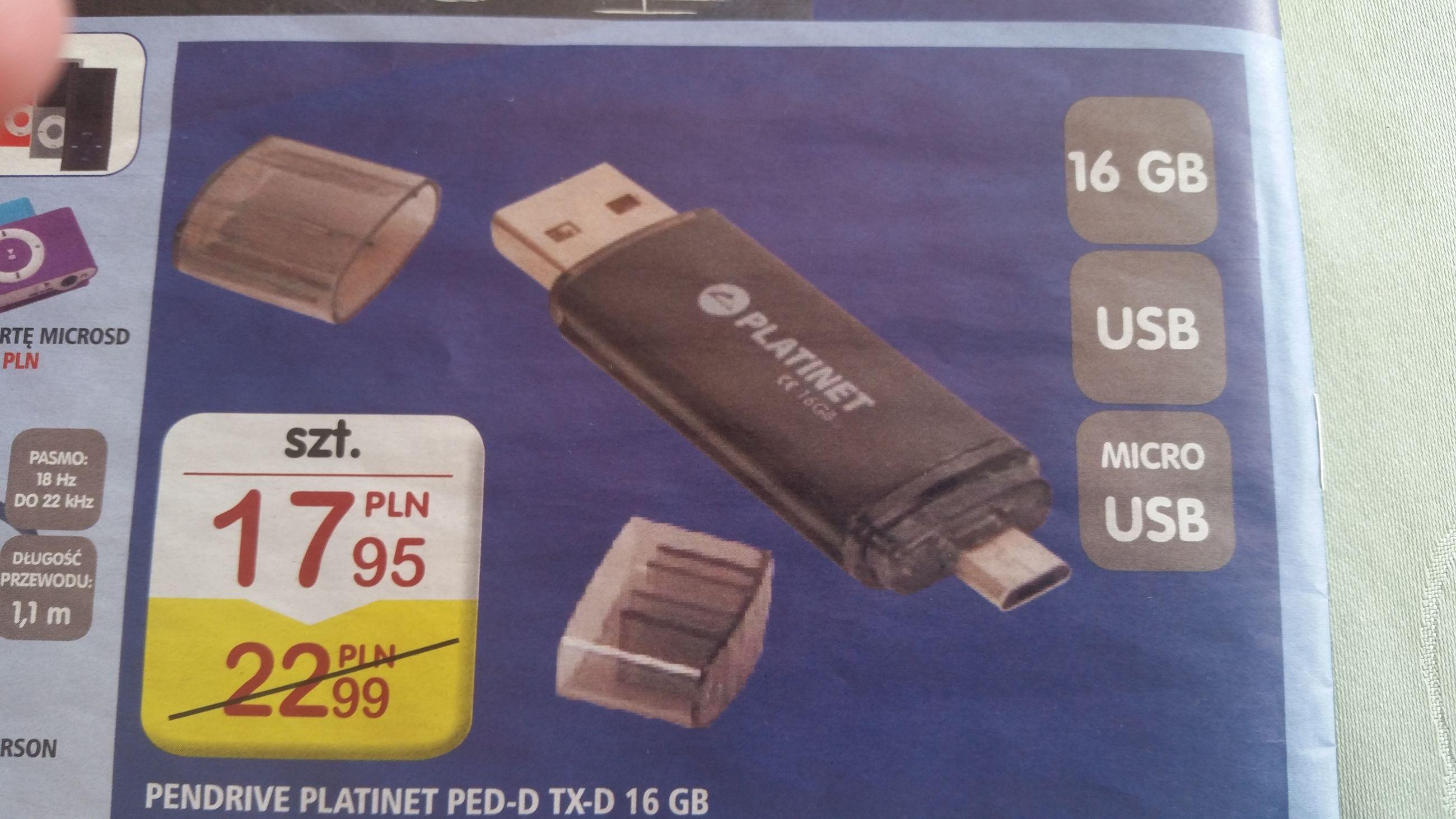 Pendrive Platinet PED-D TX-D 16 GB