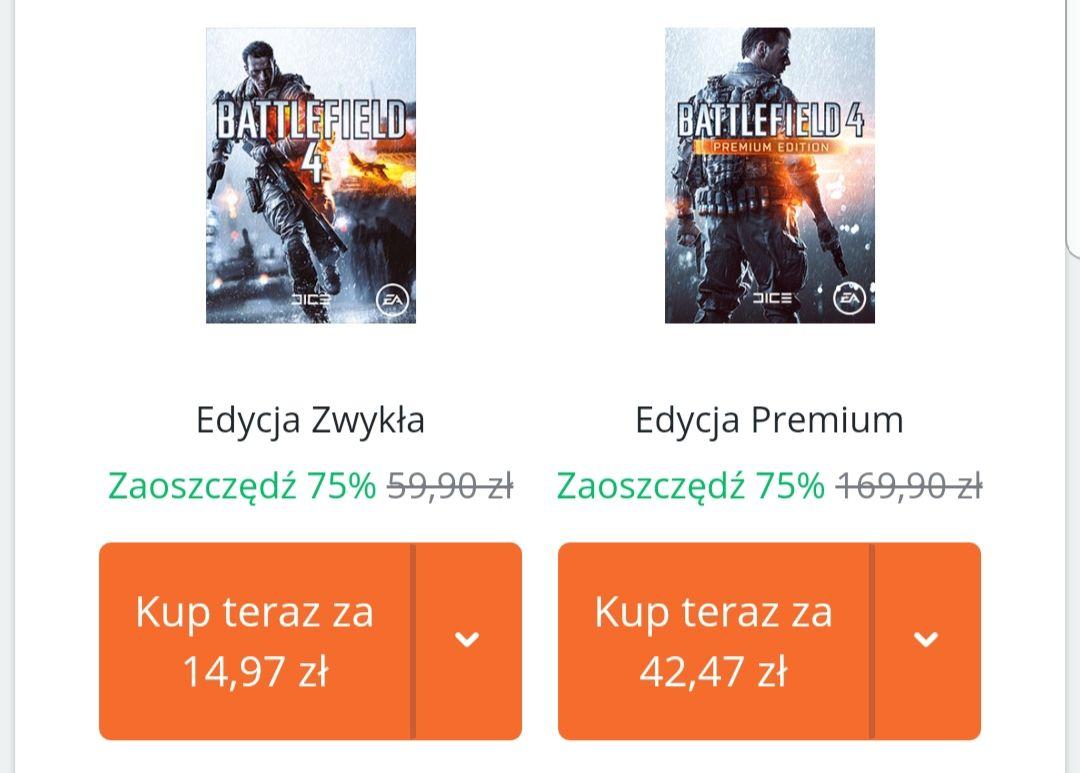 Battlefield 4 taniej o 75% (PC / Origin)