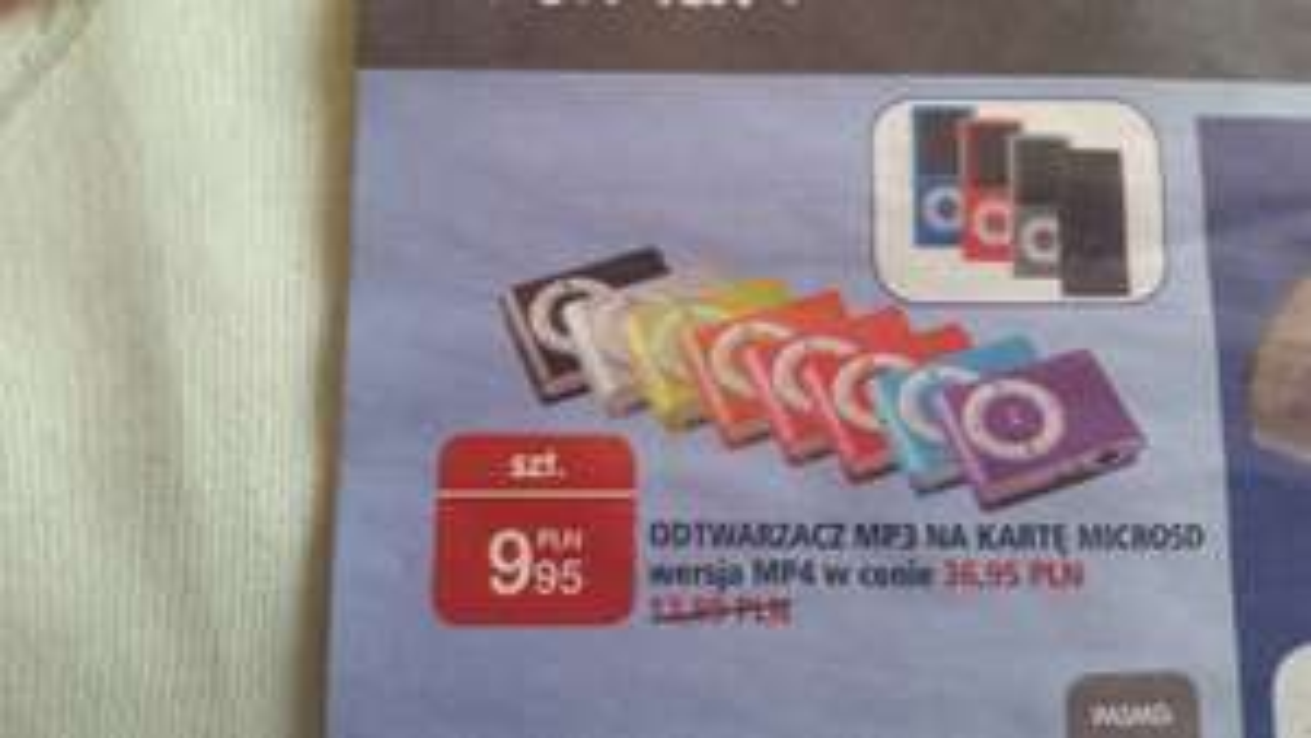 Odtwarzacz mp3/ mp4 na karte microsd