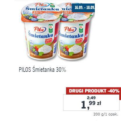 PILOS Śmietanka 30%,200 g - Lidl